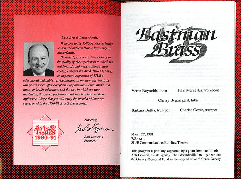 Program for Eastman Brass