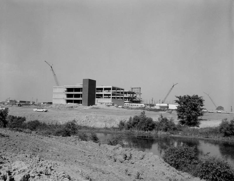 Photo of Peck Hall Under Construction