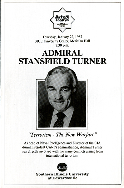 Announcement for Presentation of Admiral Stansfield Turner