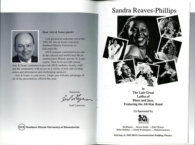 Program for Performance of Sandra Reaves-Phillips
