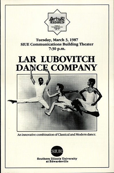 Announcement for Lar Lubovitch Dance Company