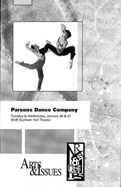 Program for Parsons Dance Company