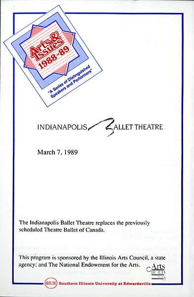 Program for Indianapolis Ballet Theatre