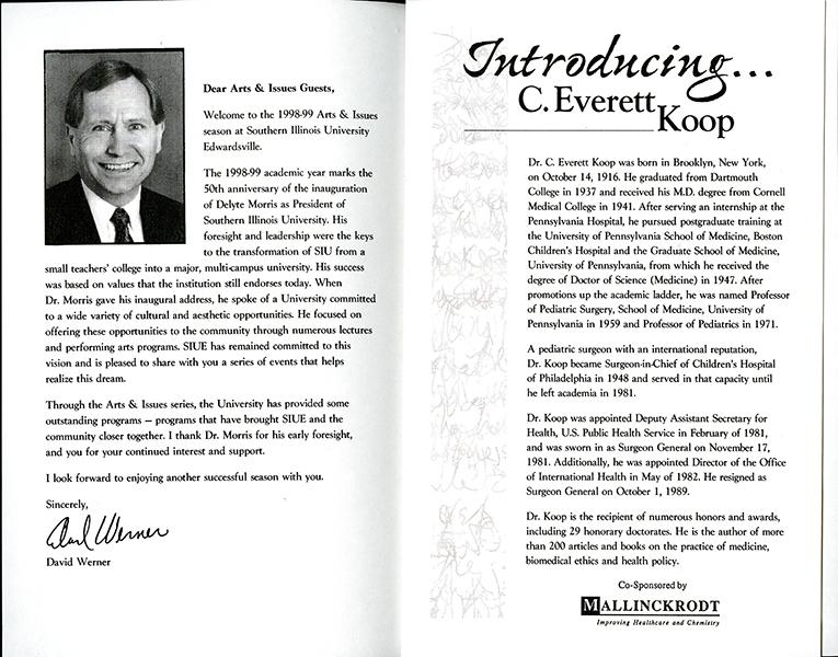 Program for Presentation of C. Everett Koop