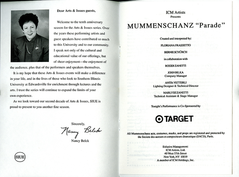 Program for Mummenschanz