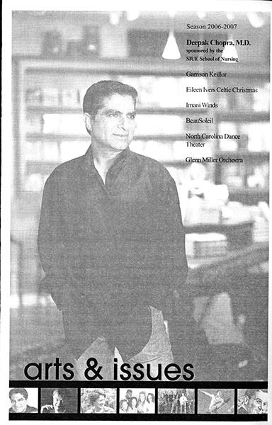 Program for Presentation of Deepak Chopra, M.D.