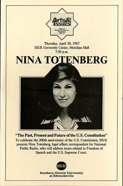 Announcement for Presentation of Nina Totenberg