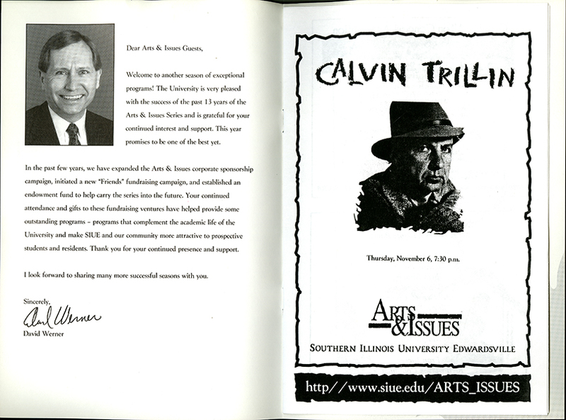 Program for Presentation of Calvin Trillin
