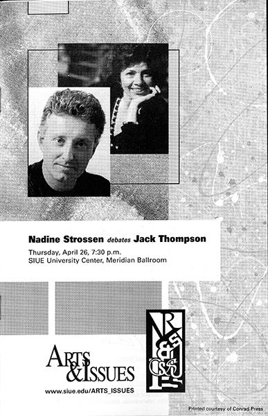 Program for Nadine Strossen vs. Jack Thompson
