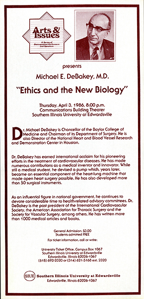 Announcement for Presentation of Michael E. DeBakey, M.D.