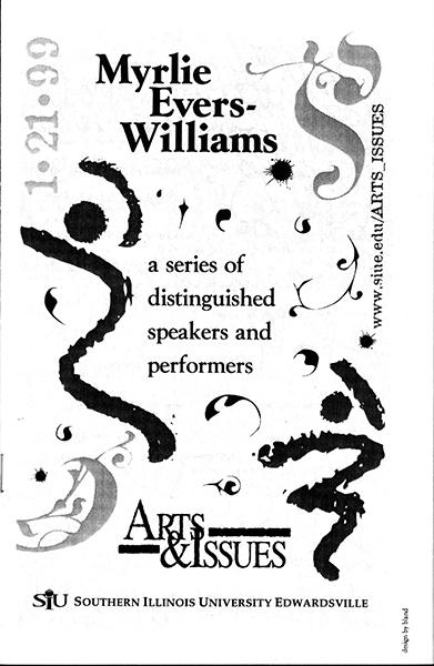 Program for Presentation of Myrlie Evers-Williams