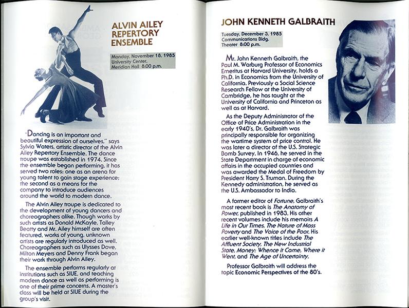 Alvin Ailey Repertory Ensemble and John Kenneth Galbraith