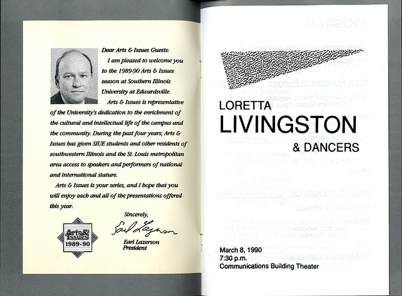 Program for Loretta Livingston & Dancers