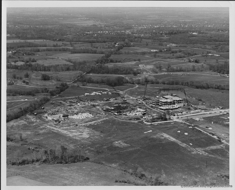 Aerial Photo of Campus Under Construction
