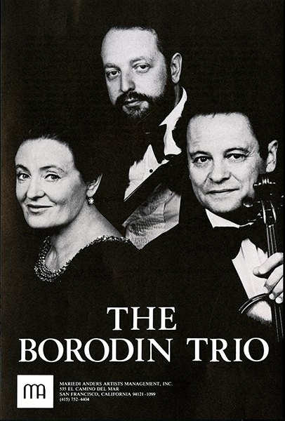 Announcement for The Borodin Trio