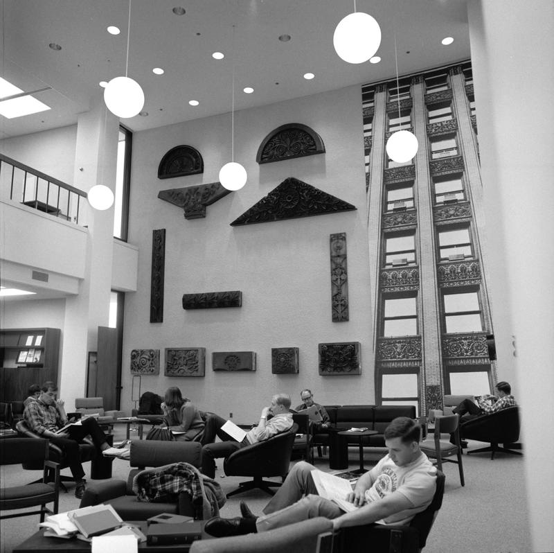 Photo of Students in Lovejoy Library