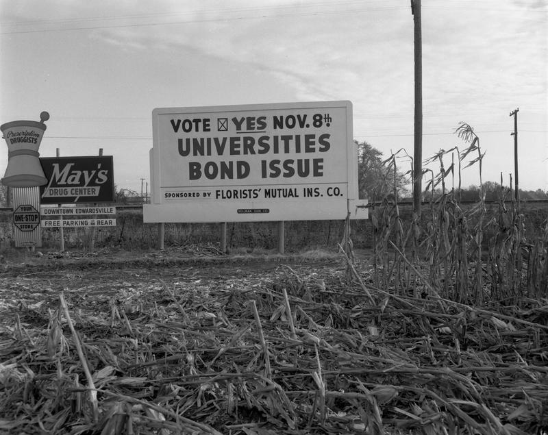Photo of Sign for Universities Bond Issue