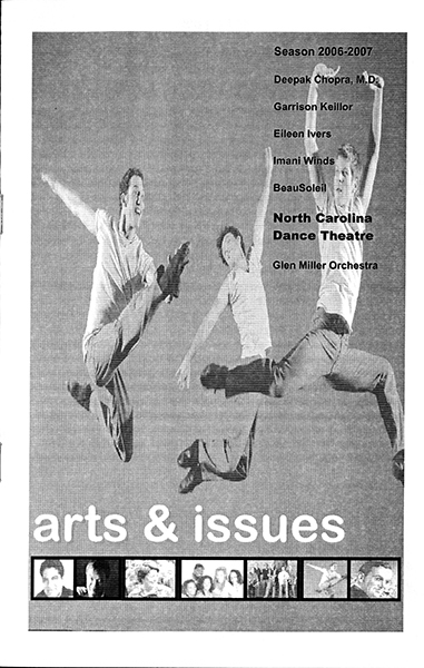 Program for North Carolina Dance Theatre