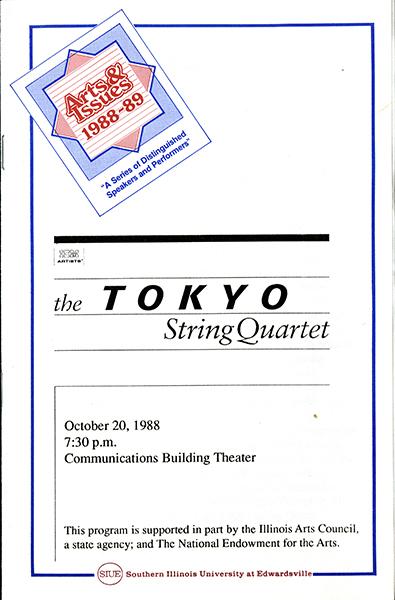 Program for The Tokyo String Quartet