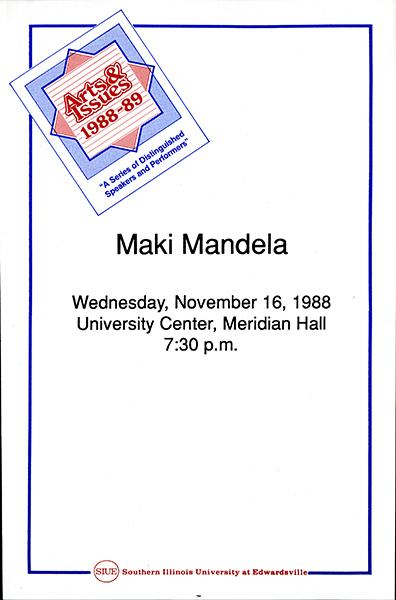 Announcement for Presentation of Maki Mandela