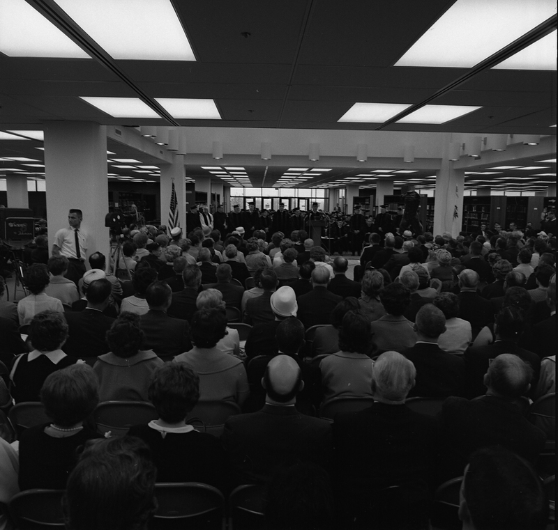 Photo of Campus Dedication Ceremony in Lovejoy Library