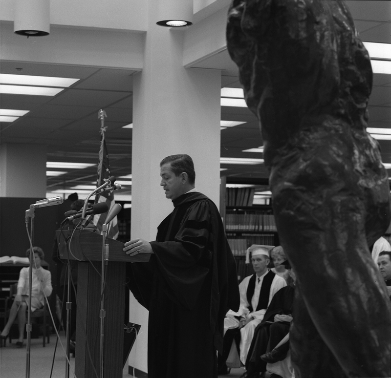 Photo of John Rendleman Speaking at Campus Dedication Ceremony