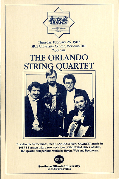 Announcement for The Orlando String Quartet