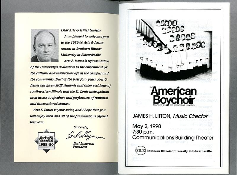 Program for The American Boychoir