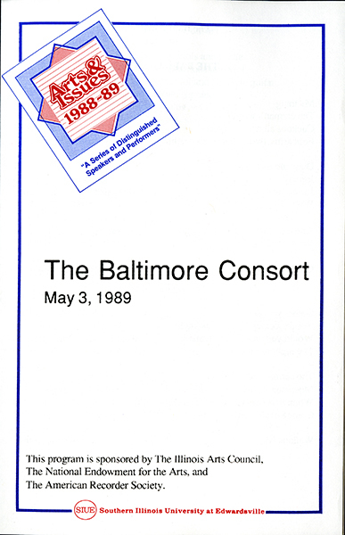 Program for The Baltimore Consort