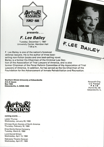 Announcement for Presentation of F. Lee Bailey