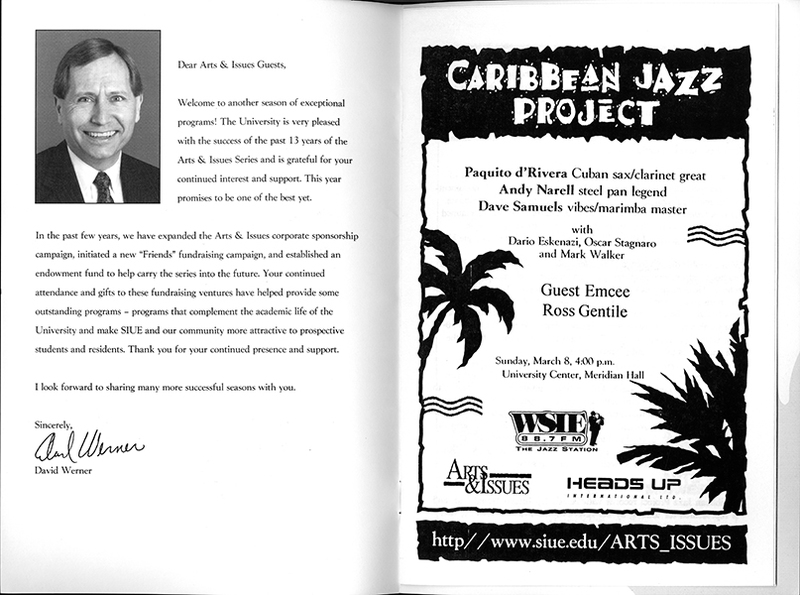 Program for the Caribbean Jazz Project