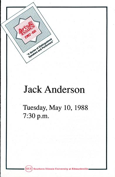 Program for Presentation of Jack Anderson