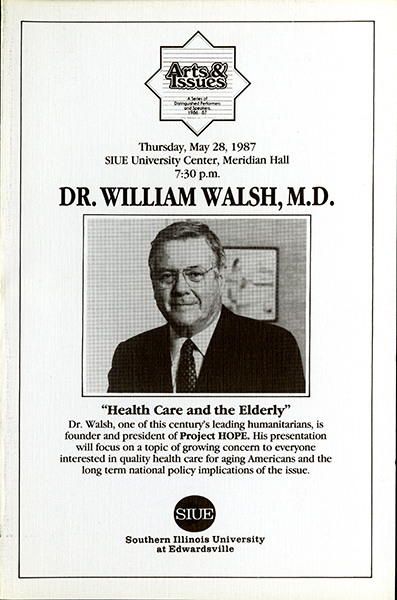 Announcement for Presentation of Dr. William Walsh, M.D.