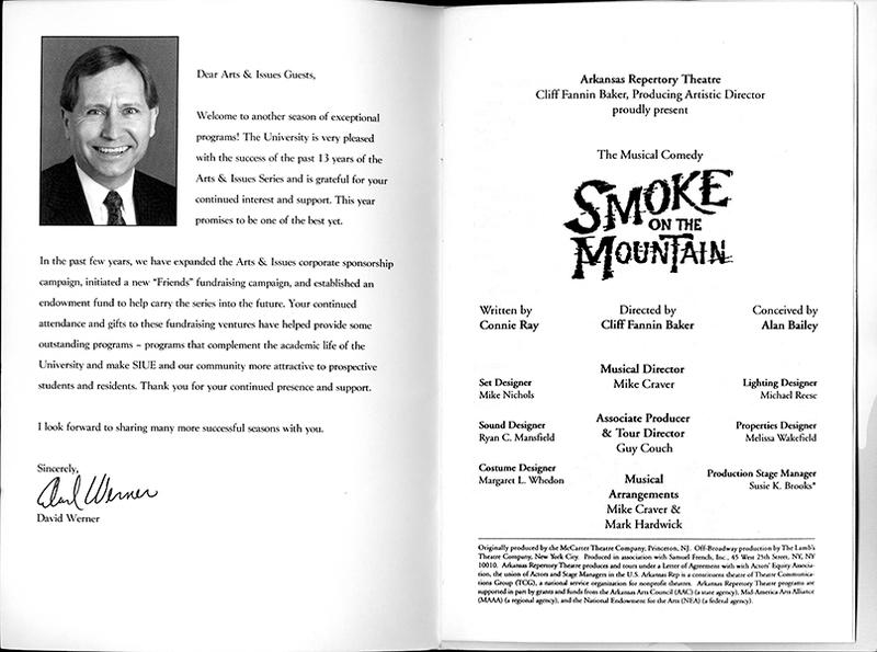 Program for the Arkansas Repertory Theatre