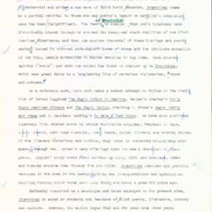 Editor's proof, Drumvoices: The Mission of Afro-American Poetry: A Critical History, preface, acknowledgments, title page, typed with handwritten edits, p. vii-xvii